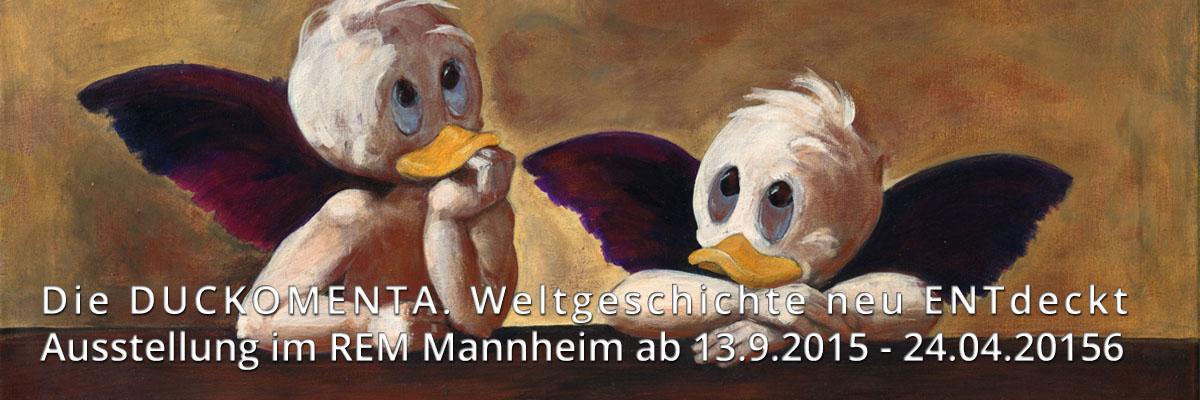 Duckomenta in den REM Mannheim